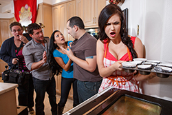 brazzers  			sienna milano		, cooking with kendall