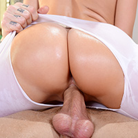 Mia Malkova was doing her daily yoga workout with her trainer Cody Sky, but after all that stretching, she was actually pretty sore! Cody offered to help her out with a nice massage, and the more his magic hands worked her sore muscles, the wetter her pussy got. By the time he got around to rubbing her gorgeous juicy booty and big natural tits, she was so damn horny that she had to get a taste of his big cock! Cody tore a hole in those tight white yoga pants of hers to get at the pussy, and then she sucked and fucked his fat dick until she was finally feeling loose and relaxed!