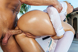 brazzers  			sienna milano		, at home booty