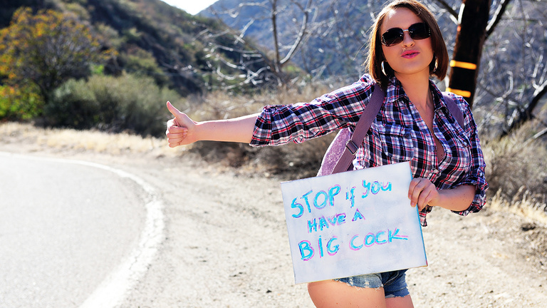 Krissy Lynn was hitchhiking across America with her big tits
