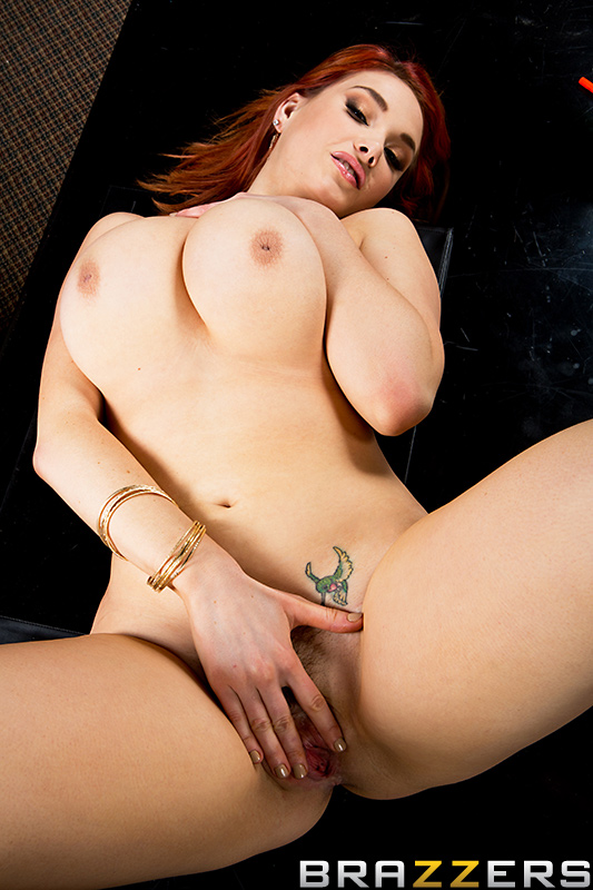 Black cock buried in her pussy