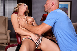 brazzers  			sienna milano		, massage chair muff