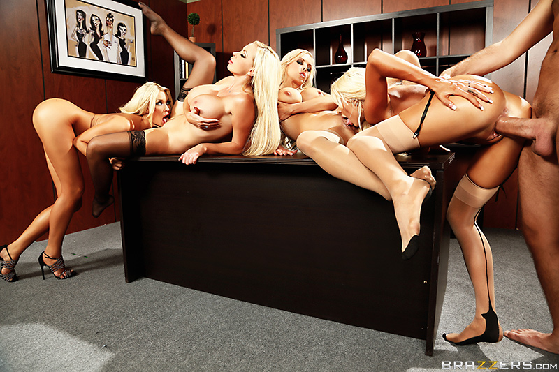 Office 4-play VI - Courtney Taylor, Nikki Benz, Nina Elle, Summer Brielle & Keiran Lee