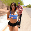 Ever since Lela Star stopped filming with us, we've wanted to get her and her huge ass back in action. And no one's been more committed to getting that big booty slut back in rotation than her biggest fan, Xander Corvus. One day, Xander spotted Lela jogging and whipped out his phone so he could get some shots of that big booty in action. He followed her into the house for some sweet peeping tom action, but Lela caught him in the act! Luckily for Xander, Lela was still the cock-crazy slut she's always been, and she started sucking on his fat cock almost instantly. She gave him a nice deepthroat blowjob, sucking on his balls and working the shaft, then took his fat cock deep in her tight little pussy. Finally, he blew a huge creampie deep in her pussy. If that doesn't convince her to come back, nothing will!