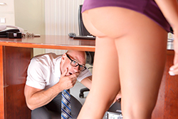 brazzers  			sienna milano		, under the desk