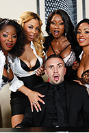 HD porn video Office 4-Play VII: Ebony Babes