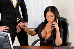 brazzers  			sienna milano		, the multitasking titties