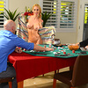 The best part of Johnny Sins' weekly poker game with his buddies is his friend's sexy wife Sarah Jessie. As her husband makes a fool of himself and crashes on the poker table, Sarah gets some revenge by giving Johnny a peek at her tight body. Johnny tries to be a good friend, but when Sarah starts groping his fat cock and begging to give him a blowjob, he has to go for it! He fucks her face and her tight pussy with her husband lying just a few feet away, and then busts a fat nut right in her pretty mouth!