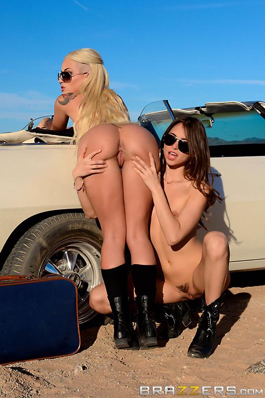 Автостоп в Лас Вегас и лесбийский секс