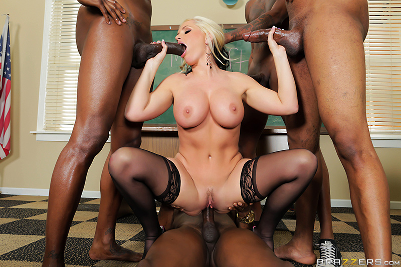 City School Gangbang - Alena Croft, Rob Piper, Flash Brown, Jon Jon & Jovan Jordan