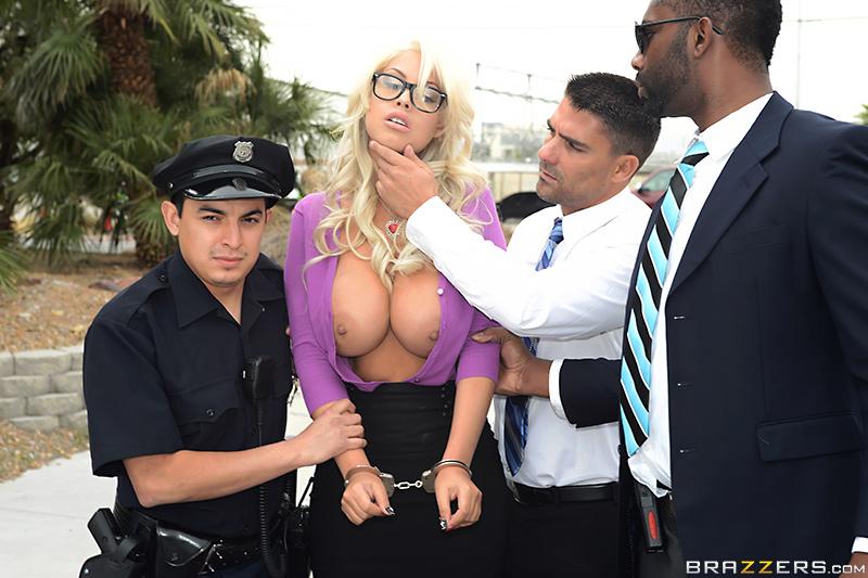 BTAW Big Tits At Work – Titty Heist II: The Negotiator – Bridgette B & Toni Ribas