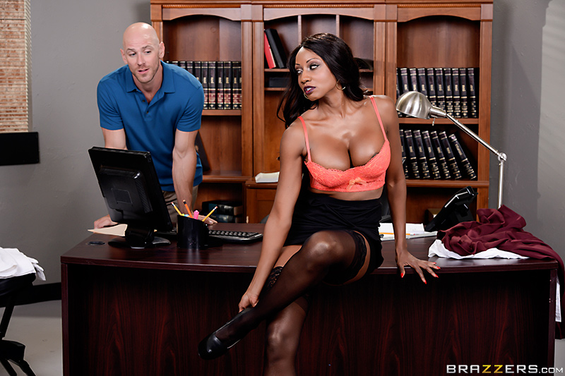 Oily Office - Diamond Jackson & Johnny Sins