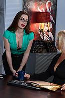 HD porn video Secretary Stockings