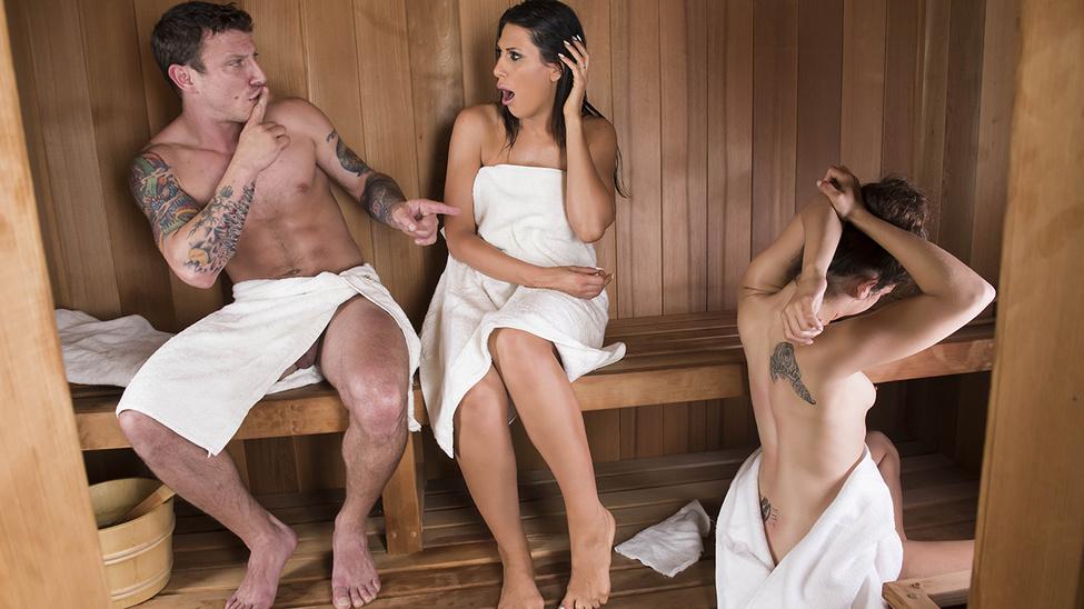Makayla Cox in Sneaky Sauna Mama