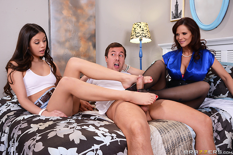 Her First Footjob - Lucy Doll, Syren De Mer & Jessy Jones