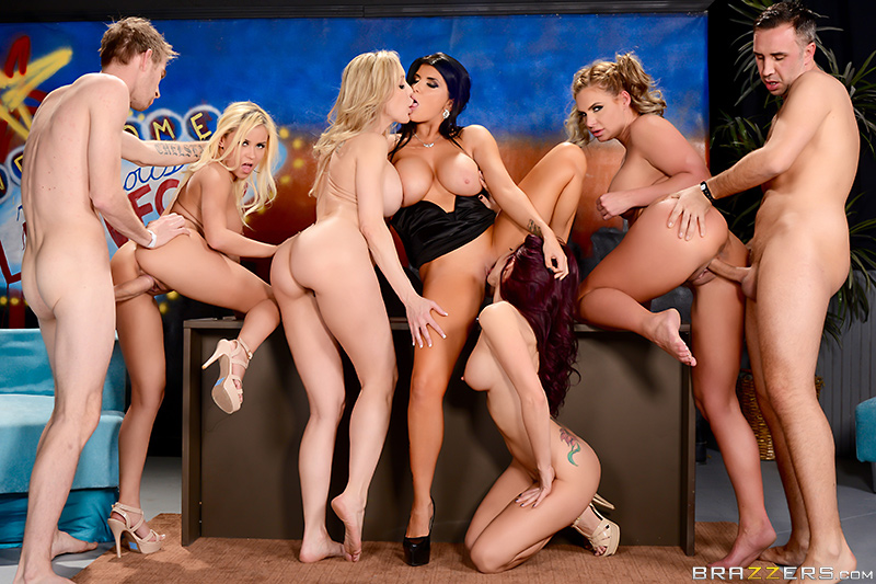 The Late Night Orgy - Brandi Love, Marsha May, Monique Alexander, Phoenix Marie, Romi Rai