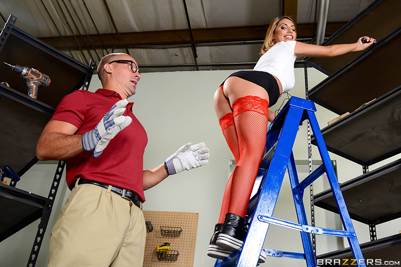 Big Tits At Work – ReStockings – August Ames & Sean Lawless